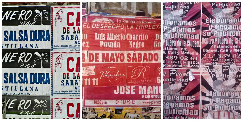 Distinctly non political posters in Colombia