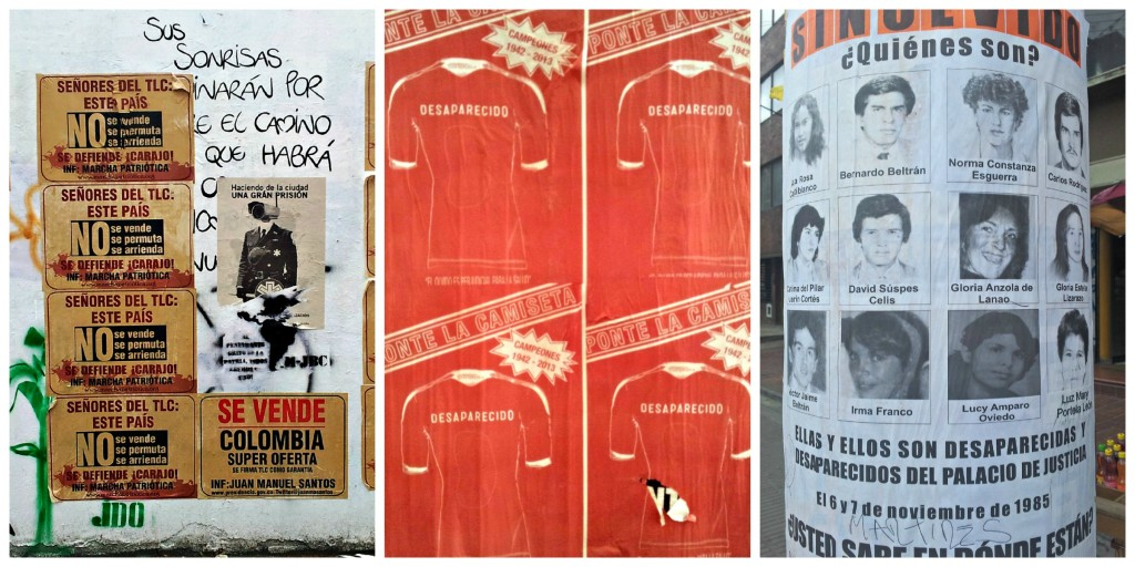 creative political posters found in Bogota