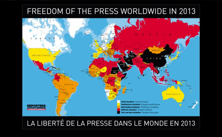 2013 World Press Freedom Index