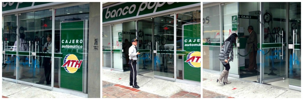 Damage to Banco Popular on the Carrera 7, Bogota
