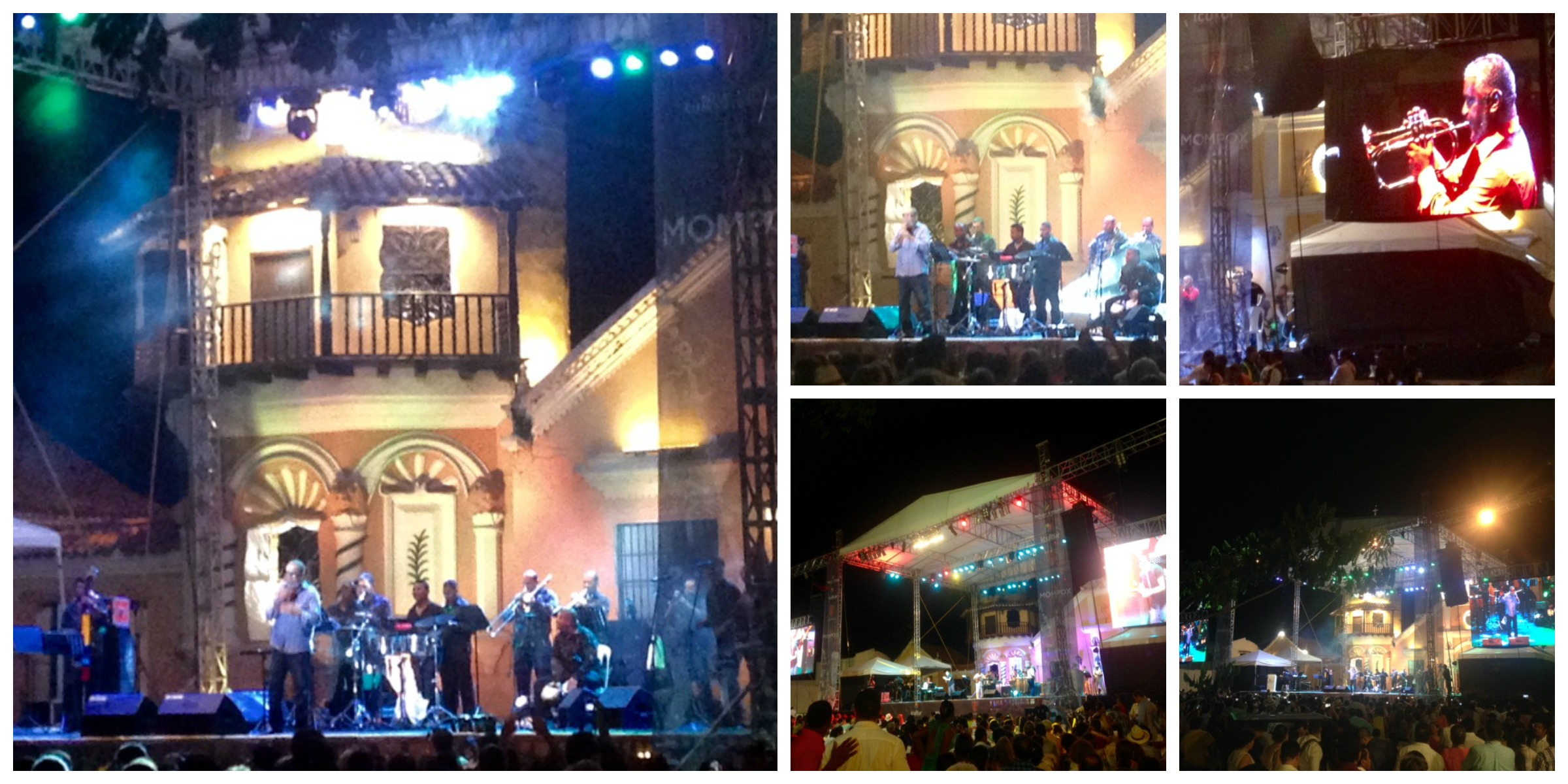 concerts during the Mompox Jazz Festival